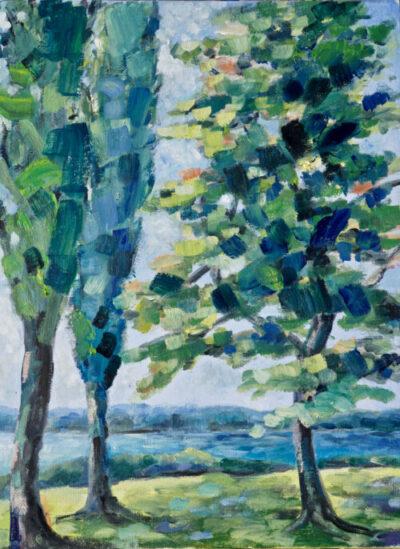 Freundliche Bäume – unbeschnitten! – Arijana, 2020, Öl / LW