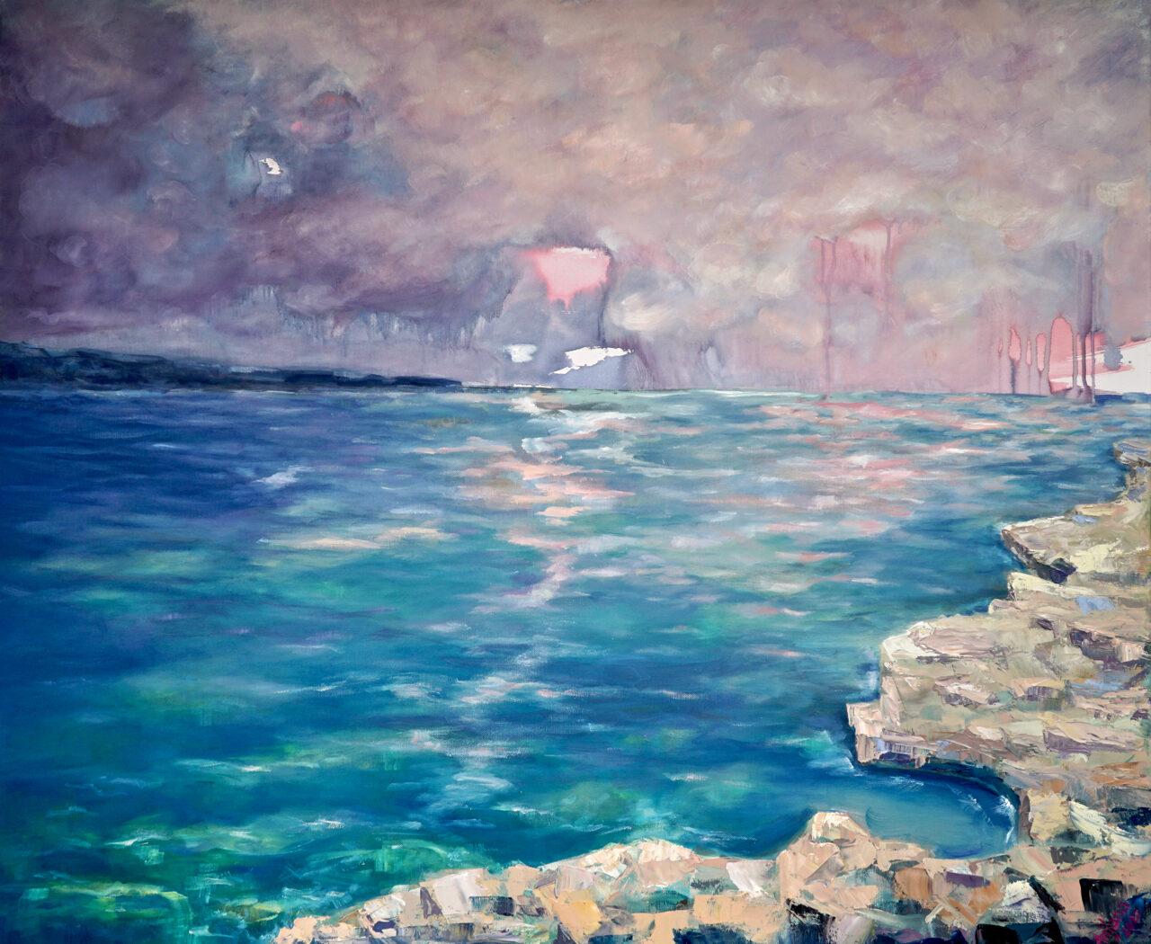 Mehr Meer – Arijana, 2020, Öl / LW