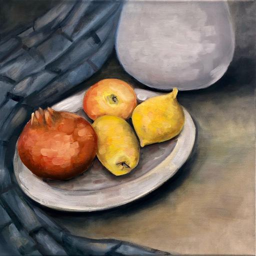 Stillleben mit Zitronen – Arijana, 2020, Öl / LW