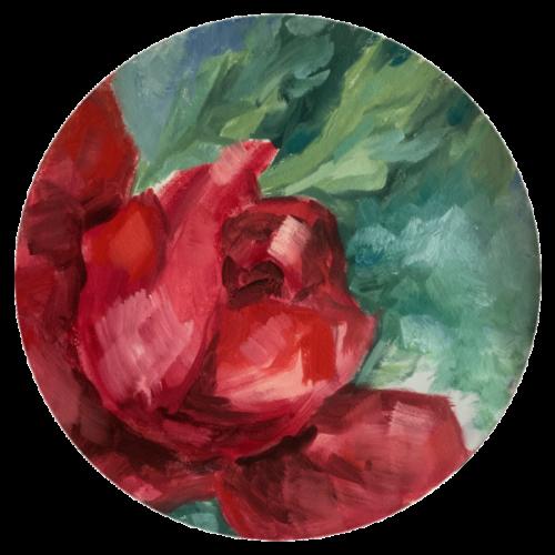 Red Roses 1 – Arijana, 2020, Öl / LW