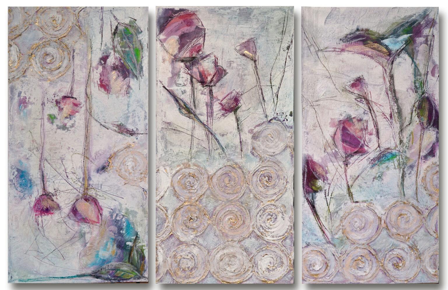 Triptychon Arijana, 2020, Öl / LW, VERKAUFT