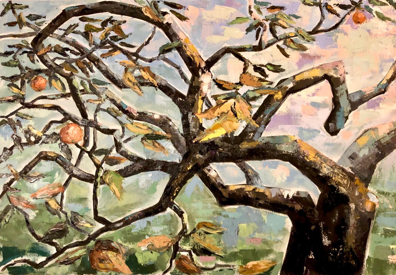 GoldApfelbaum – Arijana / 2020, Öl