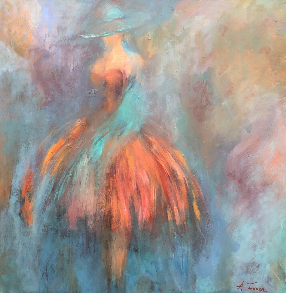 Anna Fennen – Grazie 80x80 Acryl 1100€