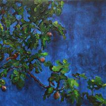 Apfelbaum mit Meise– Ilenia Lanari, Öl, MT auf LW